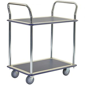 Metal 2 Shelf 2 Handle Trolley KMT224_resize