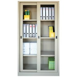 Office Steel Glass Sliding Door Cupboard FC304