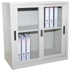 Office Steel Glass Sliding Door Cupboard HC204_resize